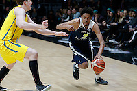 July 12, 2016: STEPHEN THOMPSON JR (2) of the Oregon State Beavers dribbles the ball during game 1 of the Australian Boomers Farewell Series between the Australian Boomers and the American PAC-12 All-Stars at Hisense Arena in Melbourne, Australia. Sydney Low/AsteriskImages.com