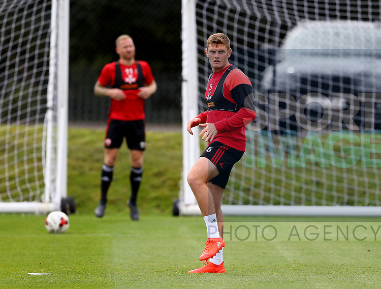 Jack O'Connell of Sheffield Utd during the Sheffield Utd training session at the Shirebrook training complex, Sheffield. Picture date: 2nd September 2016. Picture Simon Bellis/Sportimage