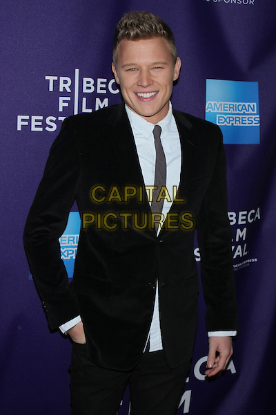 "CHRISTOPHER EGAN .attending the 2010 Tribeca Film Festival Premiere of ""Letters to Juliet"" at the SVA Theatre, New York, NY, USA, .April 25th, 2010..half length black suit tie white shirt hand in pocket smiling .CAP/LNC/TOM.©LNC/Capital Pictures."