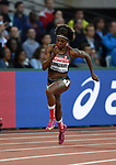 Crystal EMMANUEL (CAN) in the womens 200m heats. IAAF world athletics championships. London Olympic stadium. Queen Elizabeth Olympic park. Stratford. London. UK. 08/08/2017. ~ MANDATORY CREDIT Garry Bowden/SIPPA - NO UNAUTHORISED USE - +44 7837 394578