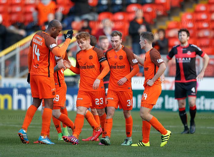 Fraser Fyvie celebrates his goal