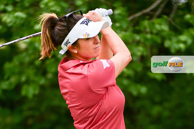 Gerina Piller (USA) watches her tee shot on 11 during Thursday's round 1 of the 2017 KPMG Women's PGA Championship, at Olympia Fields Country Club, Olympia Fields, Illinois. 6/29/2017.<br /> Picture: Golffile   Ken Murray<br /> <br /> <br /> All photo usage must carry mandatory copyright credit (&copy; Golffile   Ken Murray)