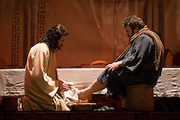 Jesus washed the feet of his apostles