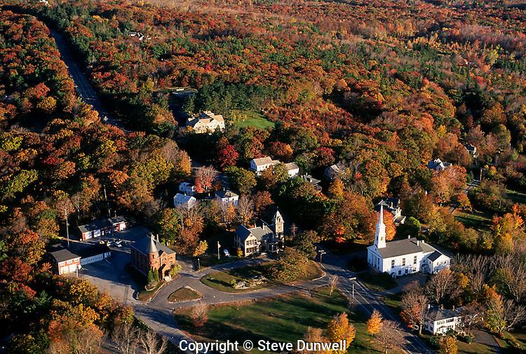aerial view, autumn, Princeton. MA,