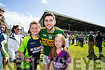 Paul Geaney with Oisin Gallivan and Eva Gallivan after defeatingTipperary in the Senior Munster Football Final at Fitzgerald Stadium, Killarney on Sunday.