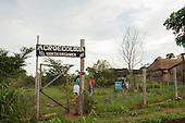 Pará State, Brazil. Komomoyea Kovoero Secondary School, in Aldeia Indigena Kuxonety Pokee, a Terena village in the Gleba Iriri Indigenous Territory.