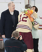 Kevin Hayes, Kevin Hayes (BC - 12), Shelagh Hayes - The visiting University of Notre Dame Fighting Irish defeated the Boston College Eagles 2-1 in overtime on Saturday, March 1, 2014, at Kelley Rink in Conte Forum in Chestnut Hill, Massachusetts.