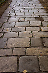 Old stone path leading to the cathedral in Winchester, England