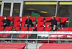 23.05.2020, Allianz Arena, München, GER, 1.FBL, FC Bayern München vs Eintracht Frankfurt 23.05.2020 , <br /><br />Nur für journalistische Zwecke!<br /><br />Gemäß den Vorgaben der DFL Deutsche Fußball Liga ist es untersagt, in dem Stadion und/oder vom Spiel angefertigte Fotoaufnahmen in Form von Sequenzbildern und/oder videoähnlichen Fotostrecken zu verwerten bzw. verwerten zu lassen. <br /><br />Only for editorial use! <br /><br />DFL regulations prohibit any use of photographs as image sequences and/or quasi-video..<br />im Bild<br />Karl-Heinz RUMMENIGGE (CEO, Vorstandsvorsitzender FCB AG) mit Mundschutz auf der Tribüne, Franz BECKENBAUER ( ex FCB President, captain of honor FCB) Jan-Christian Dreesen ,  managing financial director FCB  <br /> Foto: Peter Schatz/Pool/Bratic/nordphoto