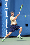 03 April 2015: Notre Dame's Quentin Monaghan. The Duke University Blue Devils hosted the University of Notre Dame Fighting Irish at Ambler Stadium in Durham, North Carolina in a 2014-15 NCAA Division I Men's Tennis match. Duke won the match 5-2.