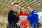 Basketball coaches Aisling O'Mahoney, Niamh Myres and Aoife Dillane the Tralee Imperials Christmas Basketball Marathon in Mercy Mounthawk on Saturday.