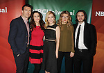 PASADENA, CA - JANUARY 15: (L-R) Actors Noah Bean, Emily Hampshire, Amanda Schull, Barbara Sukowa and Aaron Stanford attend the NBCUniversal 2015 Press Tour at the Langham Huntington Hotel on January 15, 2015 in Pasadena, California.