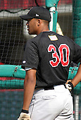 August 13, 2003:  Kevin West of the New Britain Rock Cats, Class-AA affiliate of the Minnesota Twins, during a Eastern League game at Jerry Uht Park in Erie, PA.  Photo by:  Mike Janes/Four Seam Images