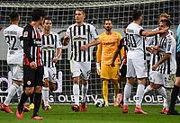 Torjubel, Goal celebration, celebrate the goal zum  1:2 durch Nils Petersen (SC Freiburg)<br />  - 26.05.2020 Fussball 1.Bundesliga Spieltag 28, Eintracht Frankfurt  - SC Freiburg emspor, <br /> <br /> Foto: Jan Huebner/Pool/ Via Marc Schueler/Sportpics.de<br /> (DFL/DFB REGULATIONS PROHIBIT ANY USE OF PHOTOGRAPHS as IMAGE SEQUENCES and/or QUASI-VIDEO), Editorial use only. National and International News Agencies OUT