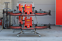 31st October 2019; Circuit of the Americas, Austin, Texas, United States of America; F1 United States Grand Prix, team arrival day; Front wings belonging to the Scuderia Ferrari team - Editorial Use