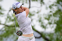 Karine Icher (FRA) watches her tee shot on 3 during round 3 of  the Volunteers of America Texas Shootout Presented by JTBC, at the Las Colinas Country Club in Irving, Texas, USA. 4/29/2017.<br /> Picture: Golffile | Ken Murray<br /> <br /> <br /> All photo usage must carry mandatory copyright credit (&copy; Golffile | Ken Murray)
