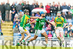 Colman Savage Kilmoyley in action against Liam Boyle Ballyduff in the County Senior Hurling Final at Austin Stack Park on Sunday.