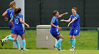 20170914 - TUBIZE ,  BELGIUM : Dutch team pictured celebrating the quick 0-1 scored by Shanice Van De Sanden (middle) during the friendly female soccer game between the Belgian Red Flames and European Champion The Netherlands , a friendly game in the preparation for the World Championship qualification round for France 2019, Thurssday 14 th September 2017 at Euro 2000 Center in Tubize , Belgium. PHOTO SPORTPIX.BE | DAVID CATRY