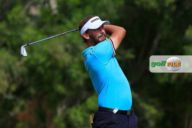 Joost Luiten (NED) on the 4th tee during Round 1 of the Omega Dubai Desert Classic, Emirates Golf Club, Dubai,  United Arab Emirates. 24/01/2019<br /> Picture: Golffile | Thos Caffrey<br /> <br /> <br /> All photo usage must carry mandatory copyright credit (&copy; Golffile | Thos Caffrey)