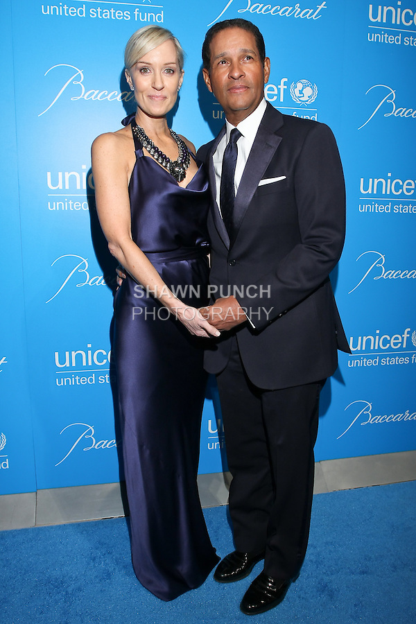 Hilary Gumbel and Bryant Gumbel arrive at the UNICEF Snowflake Ball, Presented by Baccarat, at Cipriani 42nd Street, November 30, 2010.