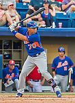 5 March 2015: New York Mets infielder Wilfredo Tovar at bat against the Washington Nationals at Space Coast Stadium in Viera, Florida. The Mets fell to the Nationals after a late inning rally, dropping a 5-4 Grapefruit League game. Mandatory Credit: Ed Wolfstein Photo *** RAW (NEF) Image File Available ***