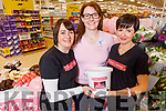 Christina O'Connor, Mary Sheehan (Tesco Stock and Appliance Manager) and Helen Kelly Bag Packing for Chloe's Journey fundraising appeal in Tesco's in Manor West Shopping Centre on Saturday