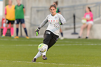 Bridgeview, IL, USA - Sunday, May 29, 2016: Chicago Red Stars goalkeeper Michele Dalton (18) during a regular season National Women's Soccer League match between the Chicago Red Stars and Sky Blue FC at Toyota Park. The game ended in a 1-1 tie.