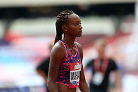 Dalilah Muhammad of USA competes in the womenís 400 metres hurdles during the Muller Anniversary Games at The London Stadium on 9th July 2017