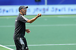 The Hague, Netherlands, June 08: Head coach Jamilon Muelders of Germany gestures during the second half during the field hockey group match (Women - Group B) between USA and Germany on June 8, 2014 during the World Cup 2014 at GreenFields Stadium in The Hague, Netherlands. Final score 4-1 (1-0) (Photo by Dirk Markgraf / www.265-images.com) *** Local caption ***