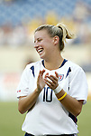 3 July 2004: Aly Wagner. The United States beat Canada 1-0 at the The Coliseum in Nashville, TN in an womens international friendly soccer game..