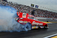 Nov. 10, 2011; Pomona, CA, USA; NHRA funny car driver Cruz Pedregon during qualifying at the Auto Club Finals at Auto Club Raceway at Pomona. Mandatory Credit: Mark J. Rebilas-.