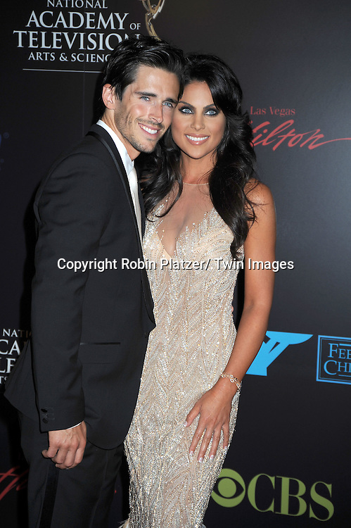 Brandon Beemer and Nadia Bjorlinarriving at The 37th Annual Daytime Emmy Awards on June 27, 2010 at The Hilton in Las Vegas, Nevada.