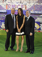 Rafael Benitez, New Coach Real Madrid; Florenitno Perez; Montse Benitez