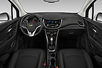 Stock photo of straight dashboard view of a 2019 Chevrolet Trax Premier 5 Door SUV