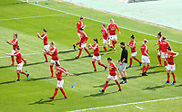 20190304 - LARNACA , CYPRUS : Austrian players pictured during warming up of a women's soccer game between Slovakia and Austria , on Monday 4 th March 2019 at the GSZ Stadium in Larnaca , Cyprus . This is the third and last game in group C for both teams during the Cyprus Womens Cup 2019 , a prestigious women soccer tournament as a preparation on the Uefa Women's Euro 2021 qualification duels. PHOTO SPORTPIX.BE | DAVID CATRY