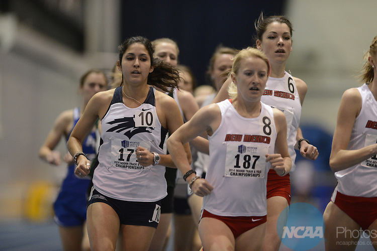 01 MAR 2014: The 2014 Mountains West Conference Indoor Track and Field Championship held at the United States Air Force Academy in Colorado Springs, CO. Justin Tafoya/NCAA Photos