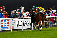 Winner of Sorvio Insurance Maiden Fillies' Stakes,Keepers Choice Yyellow) ridden by Oisin Murphy and trained by Denis Coakley  during Afternoon Racing at Salisbury Racecourse on 7th August 2017