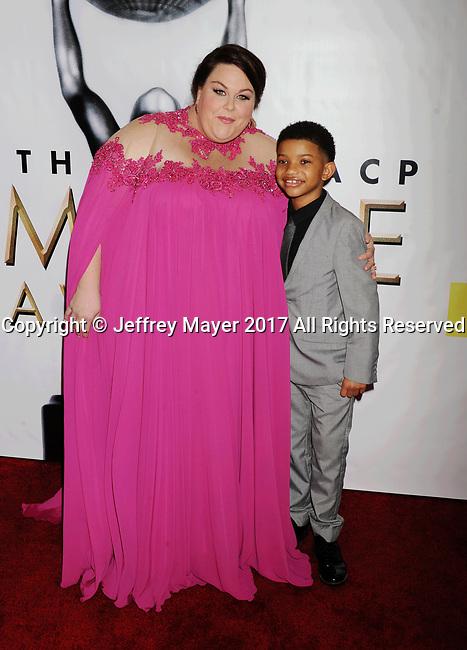 PASADENA, CA - FEBRUARY 11: Actress Chrissy Metz (L) and actor Lonnie Chavis arrive at the 48th NAACP Image Awards at Pasadena Civic Auditorium on February 11, 2017 in Pasadena, California.