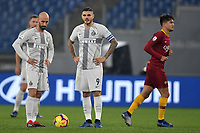 Borja Valero of Internazionale and Mauro Icardi of Internazionale look dejected after Cengiz Under of AS Roma (R) scored goal of 1-1 during the Serie A 2018/2019 football match between AS Roma and FC Internazionale at stadio Olimpico, Roma, December, 2, 2018 <br />  Foto Andrea Staccioli / Insidefoto
