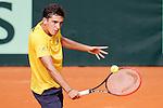 Brazil's Gabriel Bugiga during Junior Davis Cup 2015 match. September  30, 2015.(ALTERPHOTOS/Acero)