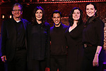 "Jeffrey Klitz,  Joanna Gleason, Michael Protacio, Christine Cornell and Christiana Cole performing a press preview of  ""Out of the Eclipse""  at Feinsteins/54 Below on February 21, 2019 in New York City."