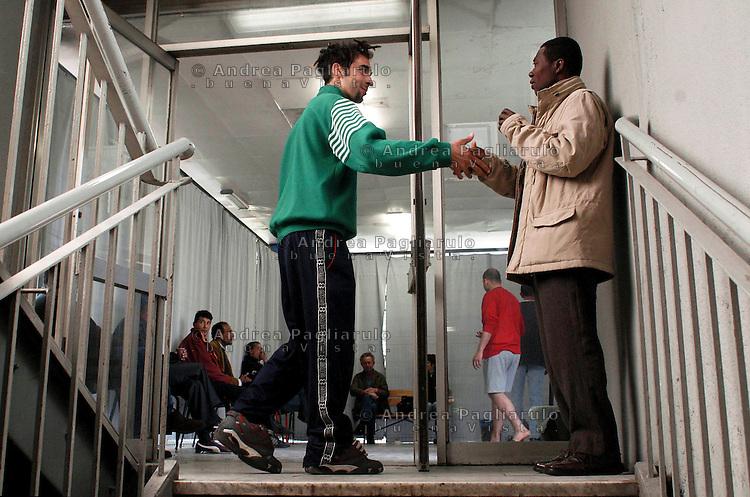 Milano, centro di accoglienza per immigrati via Maggianico.<br /> Milan, detention centre for immigrants.