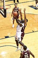 SAN ANTONIO, TX - DECEMBER 1, 2018: The University of Texas at San Antonio Roadrunners fall to the Texas State University Bobcats 69-68 at the UTSA Convocation Center. (Photo by Jeff Huehn)