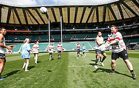 Photo: Richard Lane/Richard Lane Photography. .Emirates Airline Media training day with the England Sevens team at Twickenham. 13/05/2011.