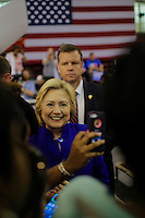 NEWARK, NJ - JUNE 01 : U.S. Democratic presidential candidate Hillary Clinton poses for pictures with supporters after speaking during a rally on June 01, 2016 in Newark, New Jersey. Hillary Clinton only needs 73 delegates to clinch the party's nomination. on June 7 New Jersey will hold its primary elections, a state that will be awarding 142 total Democratic delegates. Photo by VIEWpress