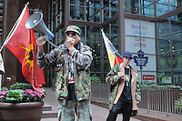 Occupy Toronto protest movement, First Nations protest, march, downtown Toronto, October 18, 2011