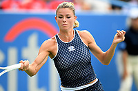 Washington, DC - August 4, 2019: Camila Giorgi (ITA) in action against Jessica Pegula (USA) NOT PICTURED during the WTA Citi Open Woman's Finals at Rock Creek Tennis Center, in Washington D.C. (Photo by Philip Peters/Media Images International)