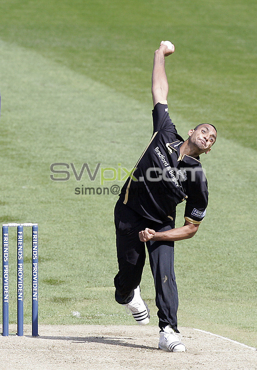 PICTURE BY VAUGHN RIDLEY/SWPIX.COM - Cricket - Friends Provident Trophy - Yorkshire v Gloucestershire - Headingley, Leeds, England - 03/05/09...Copyright - Simon Wilkinson - 07811267706...Yorkshire's Ajmal Shahzad.