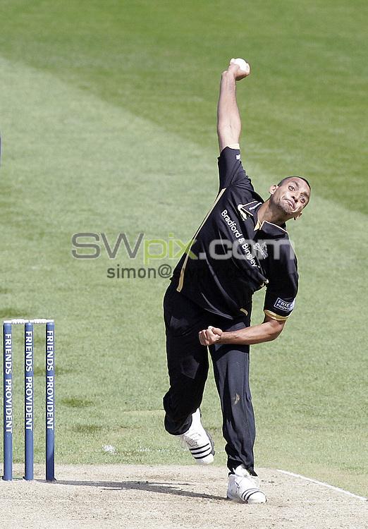 PICTURE BY VAUGHN RIDLEY/SWPIX.COM - Cricket - Friends Provident Trophy - Yorkshire v Gloucestershire - Headingley, Leeds, England - 03/05/09...Copyright - Simon Wilkinson - 07811267706...Yorkshire's Ajmal Shahzad.