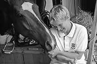 Julie Krone, with her horse Peter Rabbit, during the 1990s ('94 or '95)
